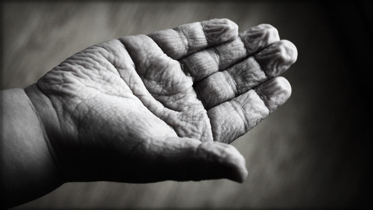 Mână de cerșetor